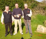 Ned, Emmet & John on the first tee box