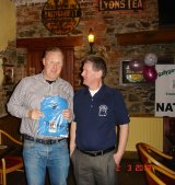 Mick collecting the Front 9 prize