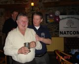 "Ned O'Connor collects the ""Most Improved"" golfer prize"