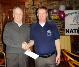 Richard O'Connor collects the Back 9 prize