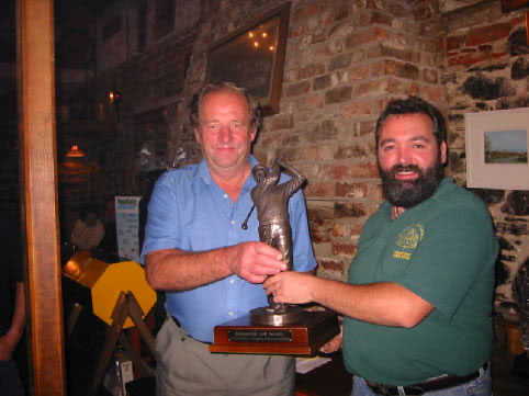 Jim Presenting the Schooner Matchplay Trophy