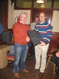 Pat receiving the prize on behalf of his brother Mick who won Category One